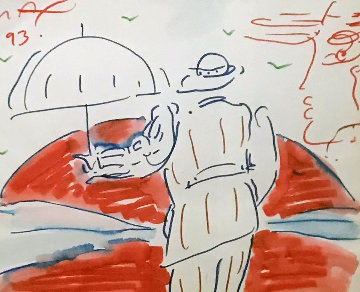 Untitled 1993 20x22 Works on Paper (not prints) by Peter Max