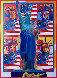 God Bless America with Five Liberties Unique 2001 Works on Paper (not prints) by Peter Max - 0