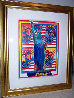 God Bless America with Five Liberties Unique 2001 Works on Paper (not prints) by Peter Max - 1
