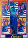 God Bless America with Five Liberties Unique 2001 Works on Paper (not prints) by Peter Max - 2