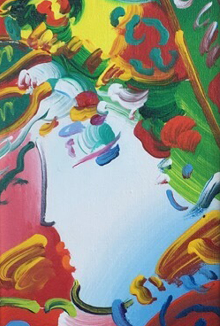 Blushing Beauty 14x20 Original Painting by Peter Max