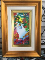 Blushing Beauty 14x20 Original Painting by Peter Max - 1