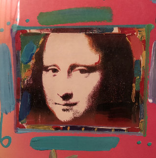 Mona Lisa Collage 2  Unique 20x18 Works on Paper (not prints) - Peter Max