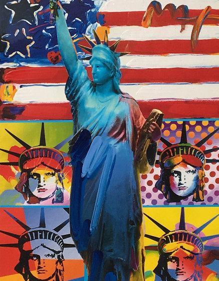 Patriotic Series Full Liberty Unique  2006 19x15 Works on Paper (not prints) by Peter Max