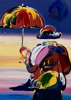 Umbrella Man on Blends Unique 2005 23x21 Works on Paper (not prints) - Peter Max