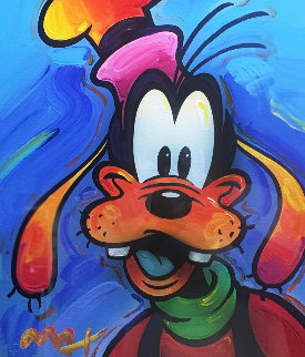 Goofy 2003 Unique 35x32 Works on Paper (not prints) by Peter Max
