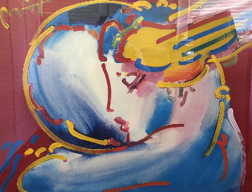Peace By the Year Unique  2000  27x22 Works on Paper (not prints) by Peter Max