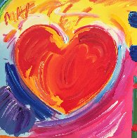 Love Heart Unique 1989 11x11 Works on Paper (not prints) by Peter Max - 0