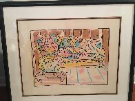 Lady on Couch With Vase 1979 Limited Edition Print by Peter Max - 1