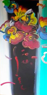 Roseville Series: Lady in a Hat    2002 65x40 Huge  Original Painting - Peter Max