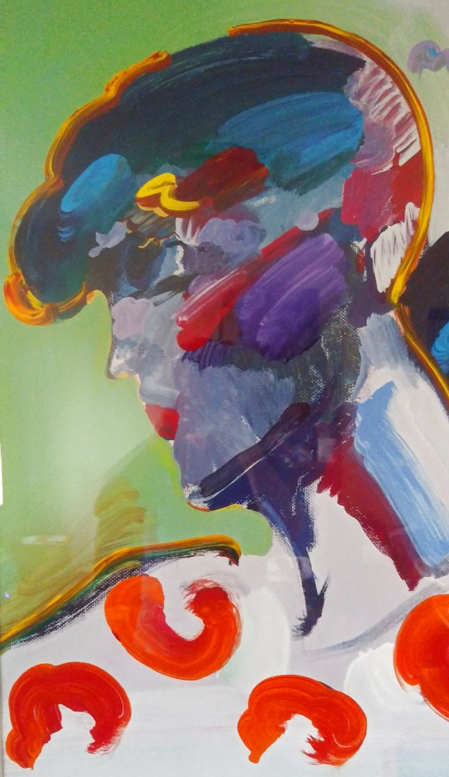 Palm Beach Lady Unique 2006 50x38 Huge  Works on Paper (not prints) by Peter Max