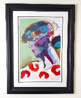Palm Beach Lady Unique 2006 50x38 Huge  Works on Paper (not prints) by Peter Max - 5