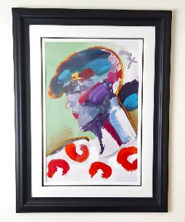 Palm Beach Lady Unique 2006 50x38 Works on Paper (not prints) by Peter Max