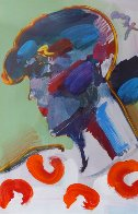 Palm Beach Lady Unique 2006 50x38 Huge  Works on Paper (not prints) by Peter Max - 1
