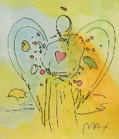 Angel Unique 2000 30x25 Works on Paper (not prints) by Peter Max - 0