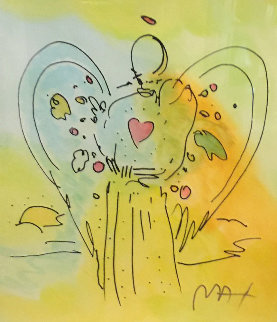 Angel Unique 2000 30x25 Works on Paper (not prints) by Peter Max