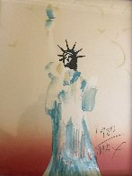 Statue of Liberty (Light Orange / Yellow) 1980 Limited Edition Print by Peter Max - 1