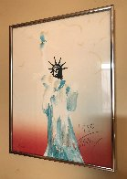 Statue of Liberty (Light Orange / Yellow) 1980 Limited Edition Print by Peter Max - 2