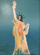 Statue of Liberty (Blue) 1980 Limited Edition Print by Peter Max - 1
