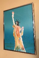 Statue of Liberty (Blue) 1980 Limited Edition Print by Peter Max - 2
