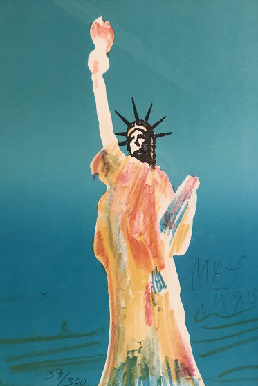 Statue of Liberty (Blue) 1980 Limited Edition Print by Peter Max