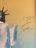 Statue of Liberty (Yellow And Light Blue)  1980 Limited Edition Print by Peter Max - 3