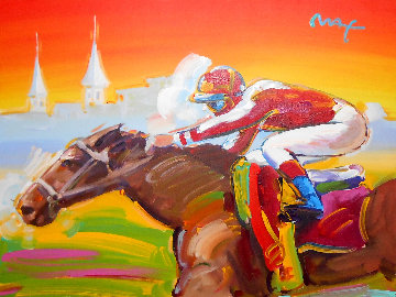 Kentucky Derby 2006 40x40 Original Painting by Peter Max