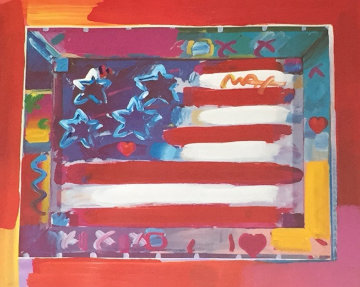 Millennium 2000 30x30  Works on Paper (not prints) by Peter Max