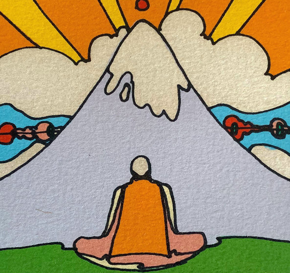 Sage By Mountain 1973 Limited Edition Print by Peter Max