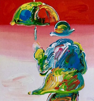 Umbrella Man Variations Unique 2004 25x22  Works on Paper (not prints) by Peter Max