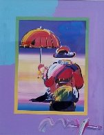 Umbrella Man on Blends Unique 2005 10x8 Works on Paper (not prints) by Peter Max - 7