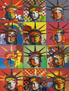 Liberty And Justice For All Unique 42x36 Works on Paper (not prints) by Peter Max