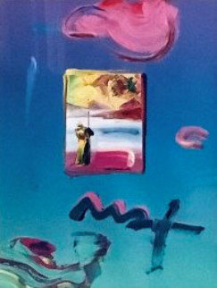 Sage With Profile 2010 23x20 Works on Paper (not prints) by Peter Max