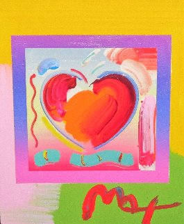 Heart on Blends Unique 2006 23x25 Works on Paper (not prints) - Peter Max