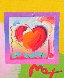 Heart on Blends Unique 2006 23x25 Works on Paper (not prints) by Peter Max - 0