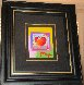 Heart on Blends Unique 2006 23x25 Works on Paper (not prints) by Peter Max - 1