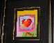 Heart on Blends Unique 2006 23x25 Works on Paper (not prints) by Peter Max - 2