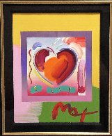 Heart on Blends Unique 2006 23x25 Works on Paper (not prints) by Peter Max - 3