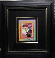 Umbrella Man on Blends Iconic Suite 2005 26x24 Works on Paper (not prints) by Peter Max - 1