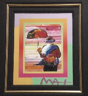 Umbrella Man on Blends Iconic Suite 2005 26x24 Works on Paper (not prints) by Peter Max - 3