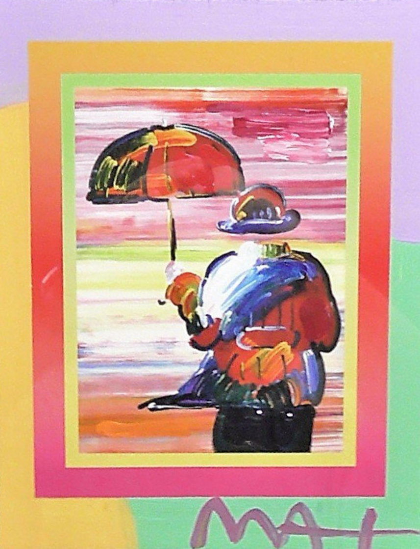 Umbrella Man on Blends Iconic Suite 2005 26x24 Works on Paper (not prints) by Peter Max