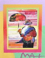 Umbrella Man on Blends Iconic Suite 2005 26x24 Works on Paper (not prints) by Peter Max - 0
