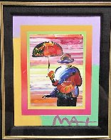 Umbrella Man on Blends Iconic Suite 2005 26x24 Works on Paper (not prints) by Peter Max - 2