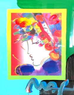 Blushing Beauty on Blends 2006 Unique Works on Paper (not prints) by Peter Max