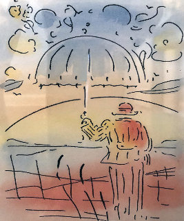 Umbrella Man 2015  Remarque Limited Edition Print - Peter Max