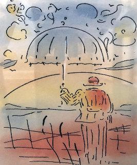 Umbrella Man Remarqued 2015 Limited Edition Print - Peter Max