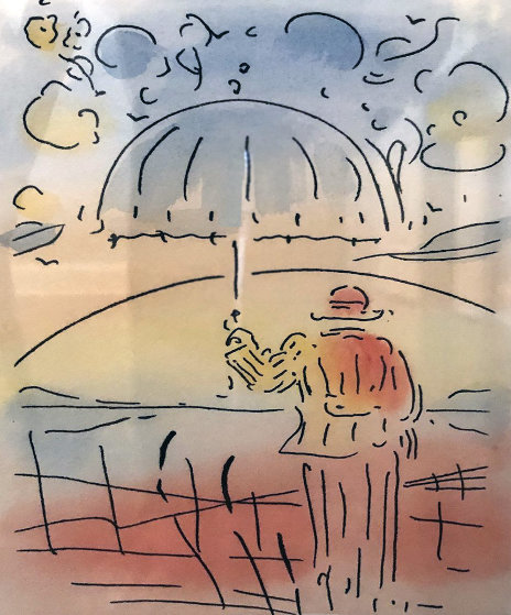 Umbrella Man Remarqued 2015 Limited Edition Print by Peter Max