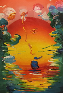 Better World  Unique 2015  36x22 Works on Paper (not prints) by Peter Max