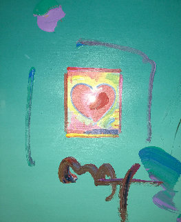 Heart Suite: Heart 2006 16x20 Works on Paper (not prints) - Peter Max