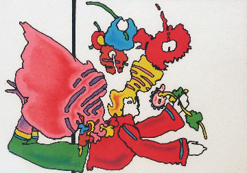 Angel Into Box 1976 Limited Edition Print by Peter Max